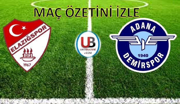 Elazığspor - Adana Demirspor maç