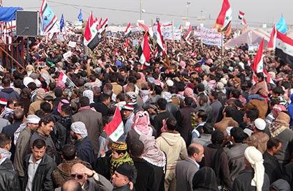 Maliki karşıtları gösteri