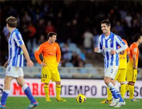 Barcelona ilk yenilgisini