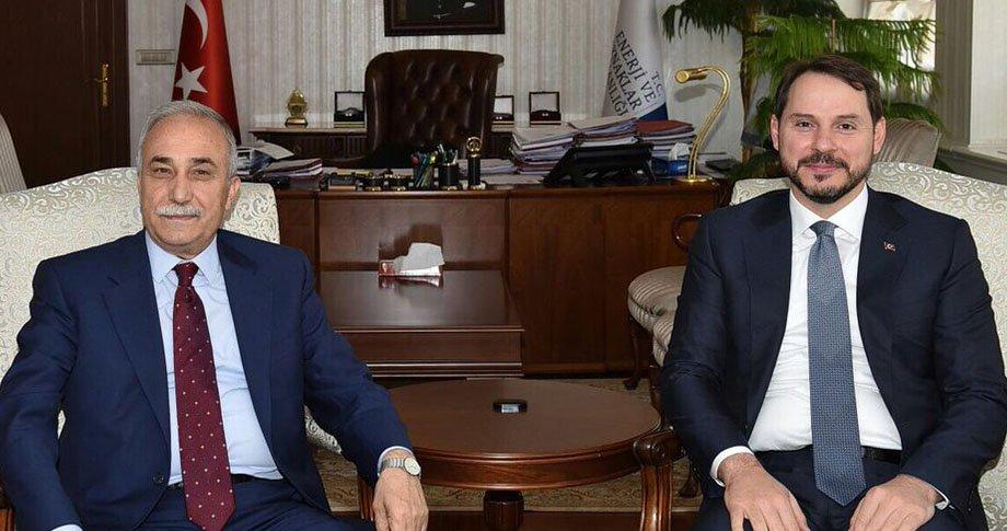 Bakan Fakıbaba, Bakan Albayrak'ı ziyaret etti