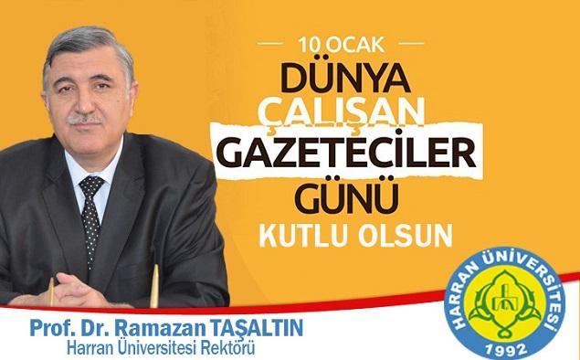 Rektör Taşaltın'dan 10 Ocak Çalışan Gazeteciler Günü Mesajı