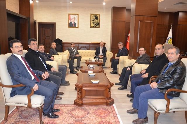 Bakanlıklardan Gelen Heyetten Rektör Taşaltın'a Ziyaret