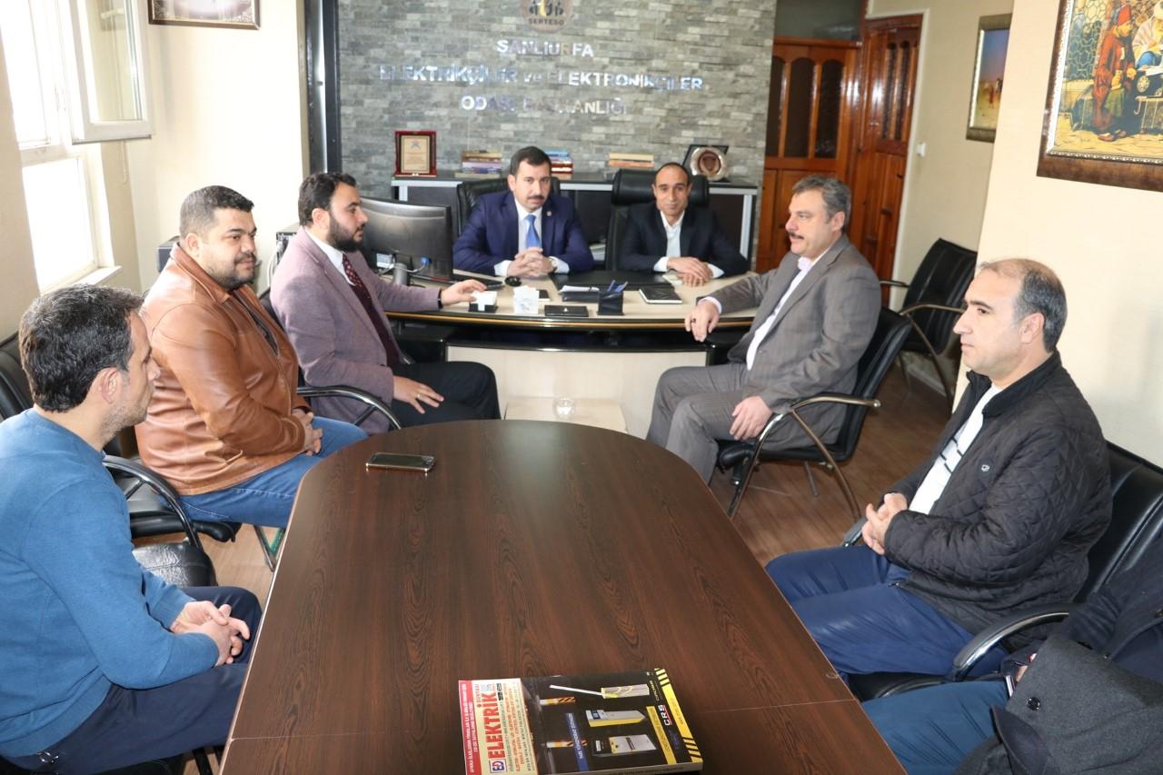 Başkan Baydilli'den Elektrikçiler ve Elektronikçiler odasına ziyaret