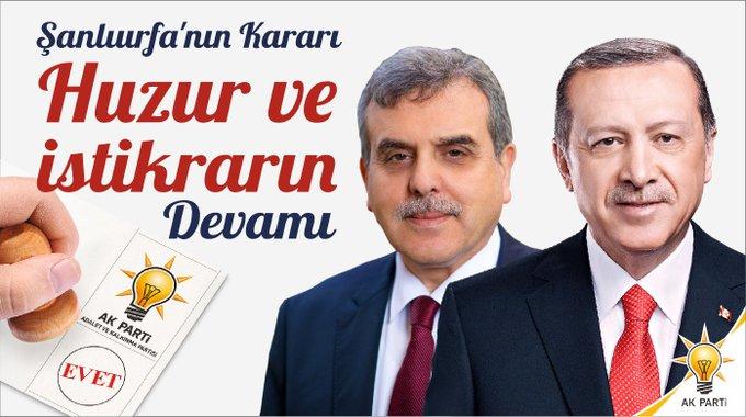 Şanlıurfa'da AK Partili Beyazgül kazandı