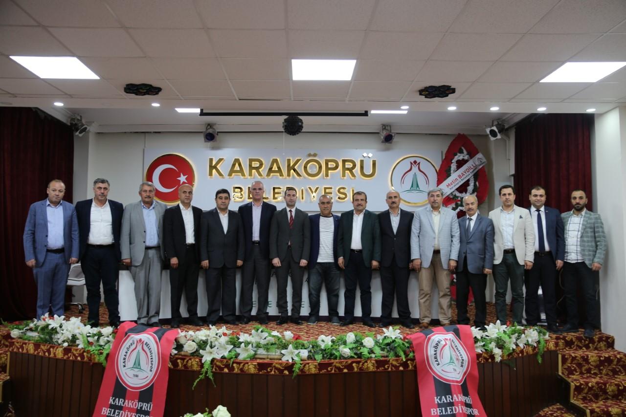 KARAKÖPRÜ BELEDİYESPOR'DA GÖREV DAĞILIMI YAPILDI