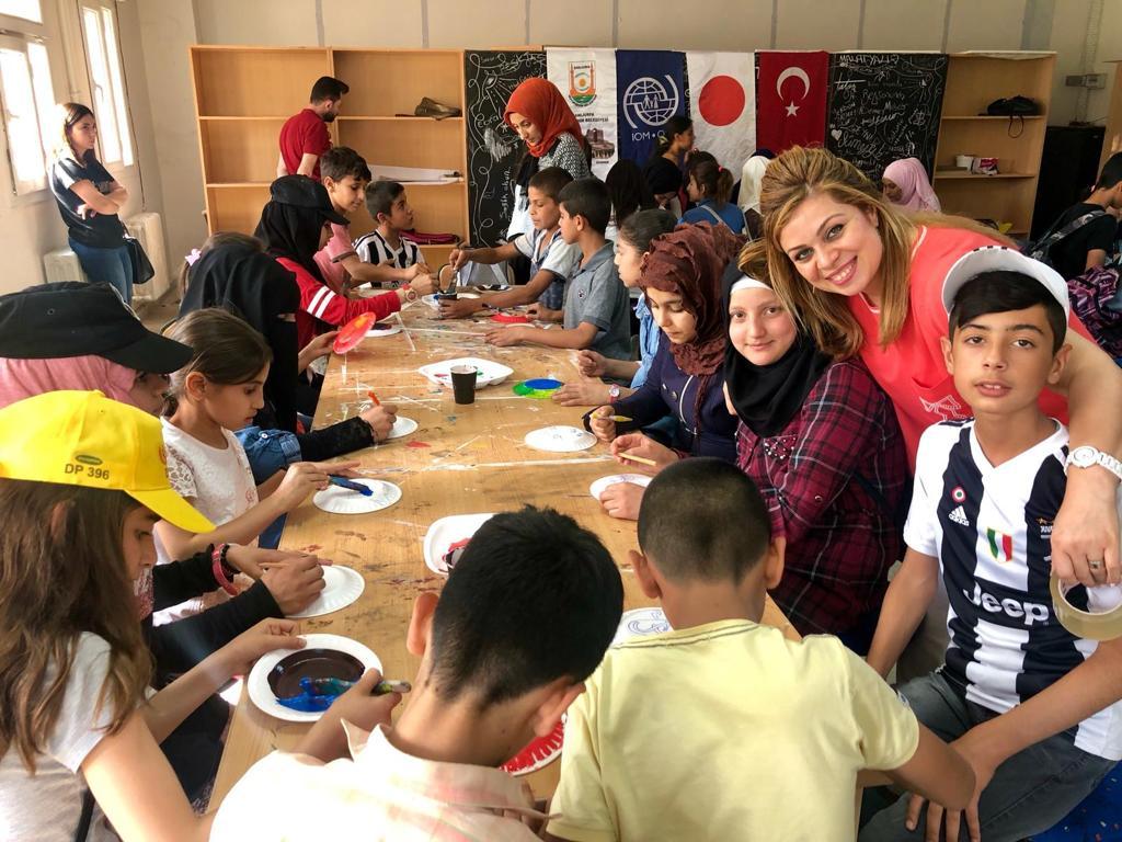 Türk ve Suriyeli çocuklar bir araya geldi.