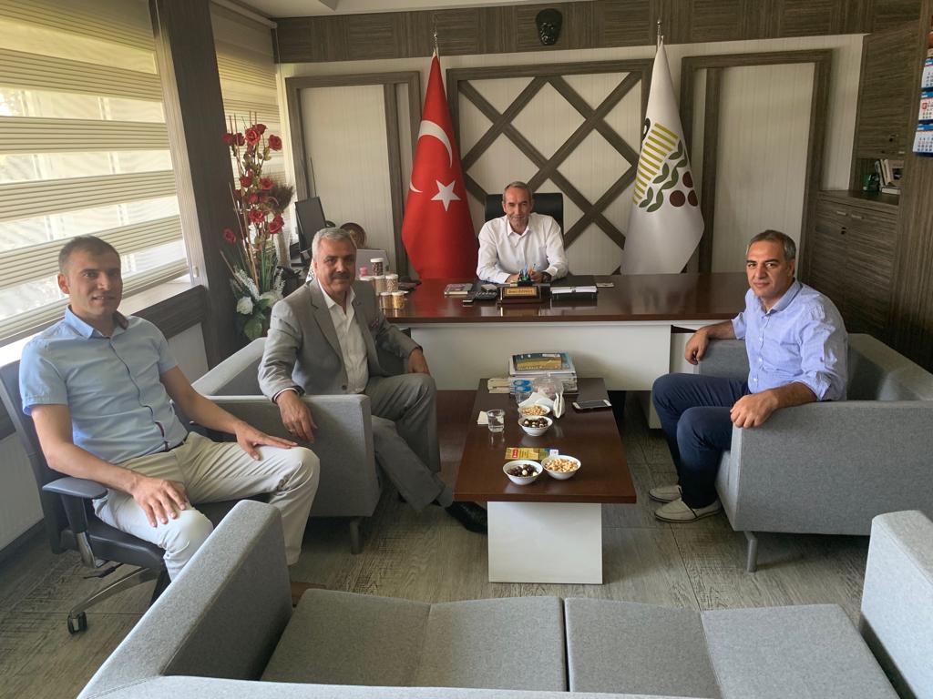 BAŞKAN PELTEK, TOPRAK MAHSULLERİ OFİSİ'Nİ ZİYARET ETTİ