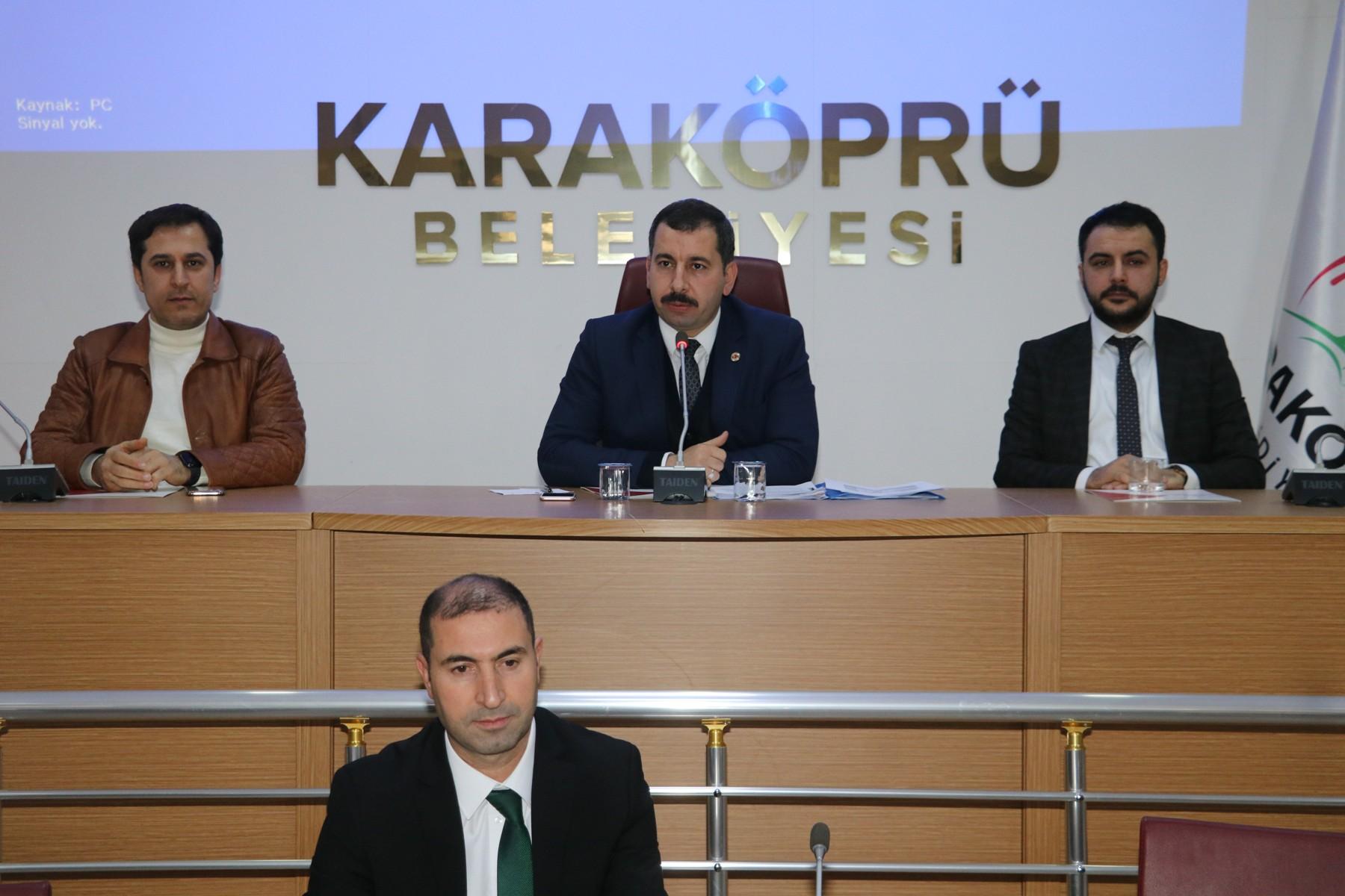 KARAKÖPRÜ'DE YENİ YILIN İLK MECLİS TOPLANTISI GERÇEKLEŞTİRİLDİ