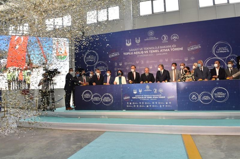 Şanlıurfa'da Valilik Koordinesinde Yapılan 13 Fabrikanın Açılışı Gerçekleştirildi
