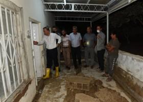 Vali Erin Yağıştan Etkilenen Bölgelerde İncelemelerde