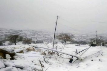 Diyarbakır'da fırtınanın bir gecede yıktığı elektrik şebekesi