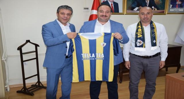 Viranşehirspor Başkanı Şeyhmusoğlu Başkan Ekinci'den Destek