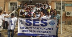 Hastane önünde protesto
