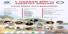 Harran Üniversitesinde Şiir ve Edebiyat Günleri Başlıyor